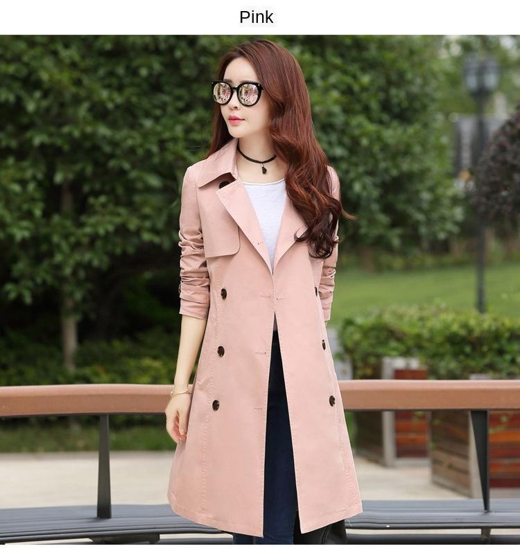 La tranchée de 5x4Xe femmes coupe-vent de style long manteau automne 2019 manteau coréenne nouveau printemps mince et