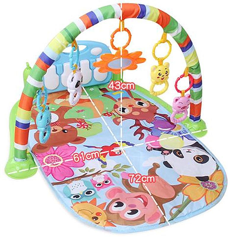 Newborn baby pedal piano fitness frame baby fitness device 1-6 months early education educational musical toys hot sale
