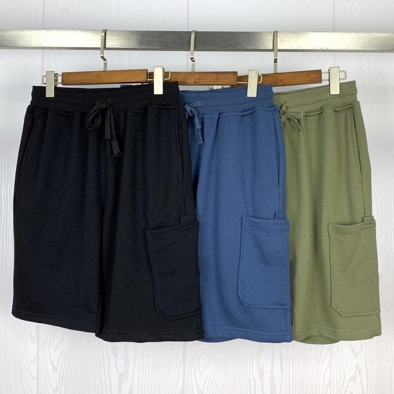3 colores para hombre Pantalones cortos de verano Joggers Pantalones Hombre Pantalones para hombre Joggers diseñador de los pantalones cortos de algodón sólido M-2XL # 8022