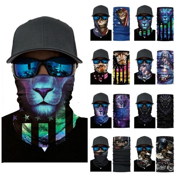 manera de múltiples funciones la cabeza del tigre bufanda de la impresión ciclismo máscaras de animales mágicos esqueleto pañuelo de las máscaras del partido de Halloween 25style T2I51110