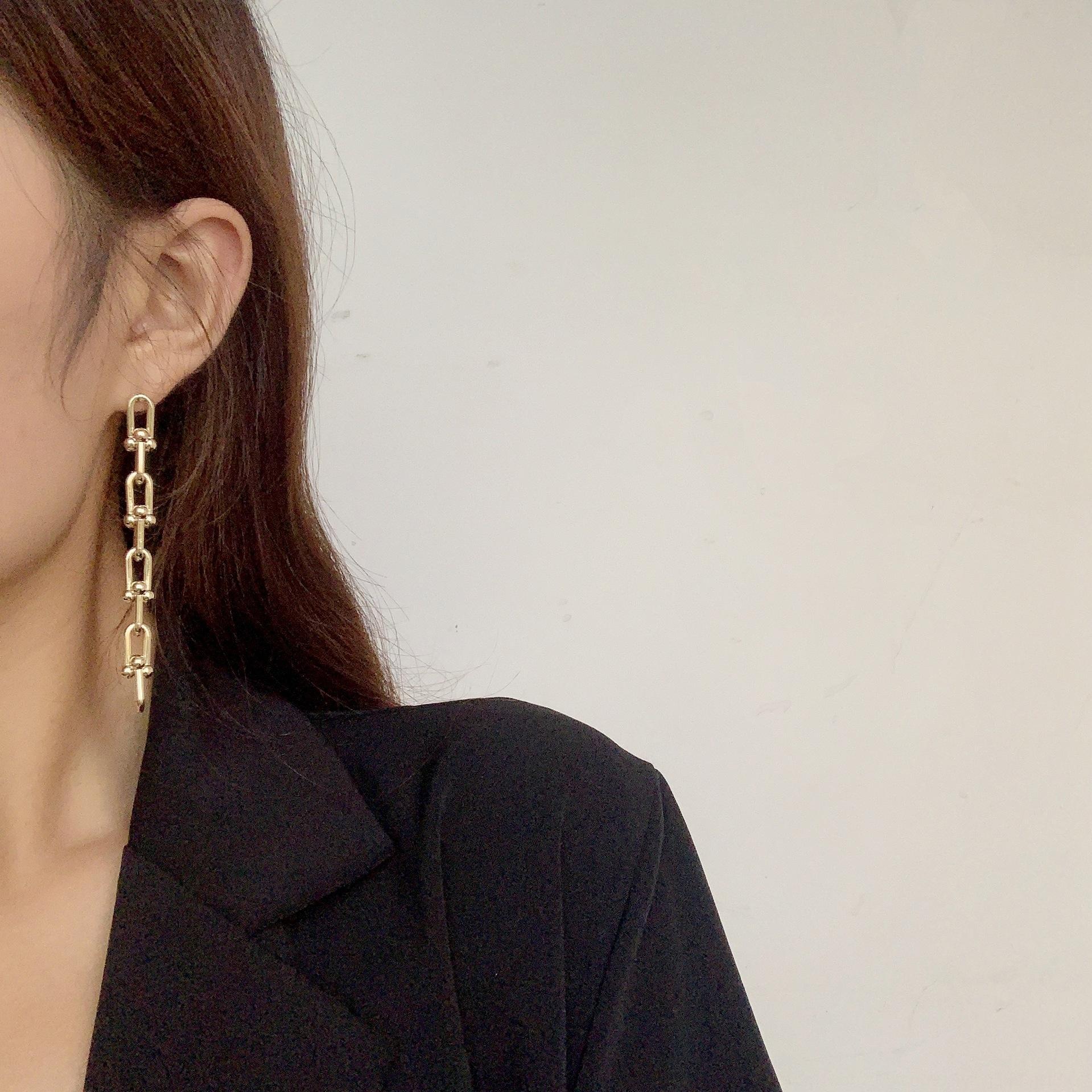 Ян Ми кисточка и металлические серьги женские цепочки серьги длиной 2020 новая мода