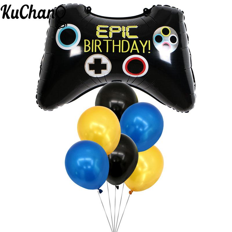 7pcs 68*49cm Video Game Controller Foil Helium latex Balloon birthday party supplies toys children Decoration Props Tool Ball