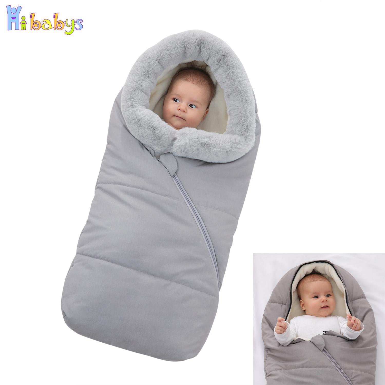 Baby Stroller saco de dormir de Inverno Envelopes quente para recém-nascido Thicken Stroller Sleepsacks infantil Windproof Envelopes sono Sack 200925