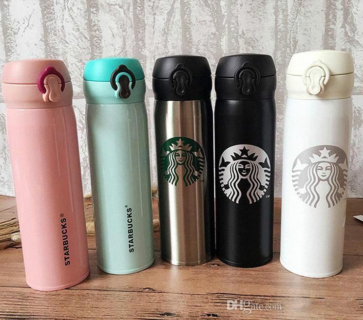500мл Starbucks двустенных из нержавеющей стали бутылки воды Портативный Чашки кофе Вода Кубок Изолированные Автомобили Пиво Кружки Кружка кофе Путешествия Bot fZer #