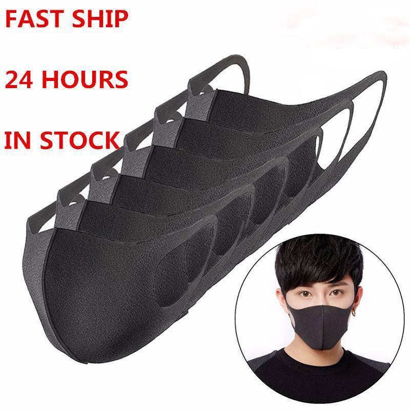 Tasarımcı Anti-Toz Pamuk Ağız Yüz Maskesi Siyah Koruyucu Maskeleri Unisex Yıkanabilir Kullanımlık Yüz Maskesi Erkek Kadın Siyah / Gri / Pembe / Mavi