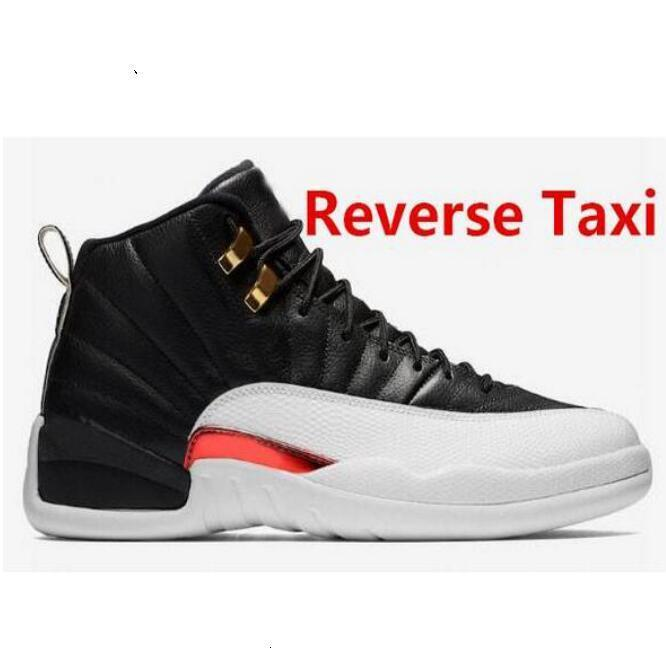 US13 Les nouveaux hommes 12s Chaussures de basket en plein air Royal Game Taxi Hot inverse punch Nylon Gym Red 12 Flu Jeu Taxi Sport Formateurs Sneaker