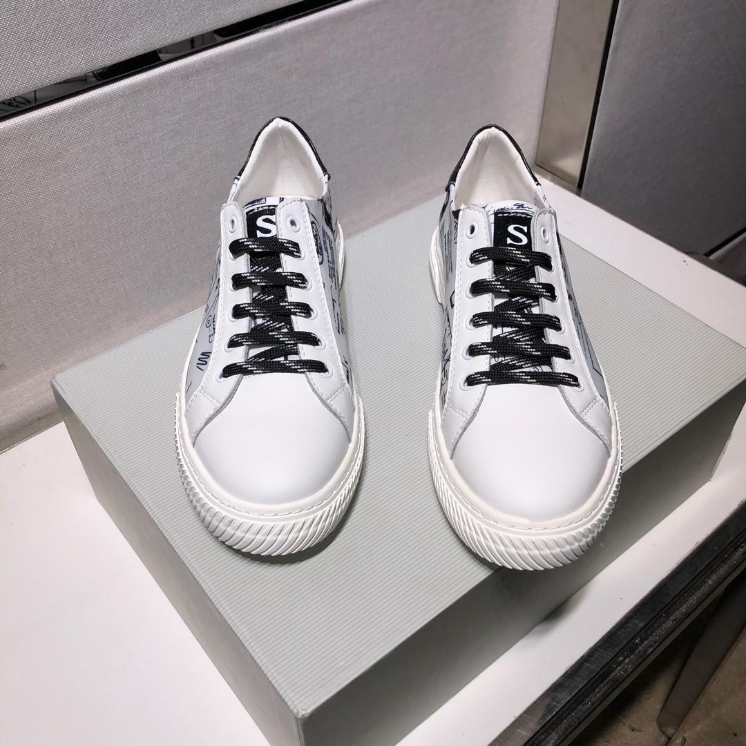 2021w Primavera E L'estate dei nuovi uomini '; Scarpe Stampato Sport S pelle, Selvaggio Basso tallonati casual scarpe traspiranti, scatola originale di consegna: 38 -
