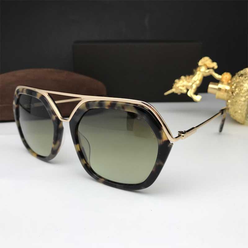 0618 gafas de sol de calidad superior de la primavera nueva manera de Tom Flying gafas de sol hombres y mujeres Gafas de sol de la marca Ford de diseño con la caja original