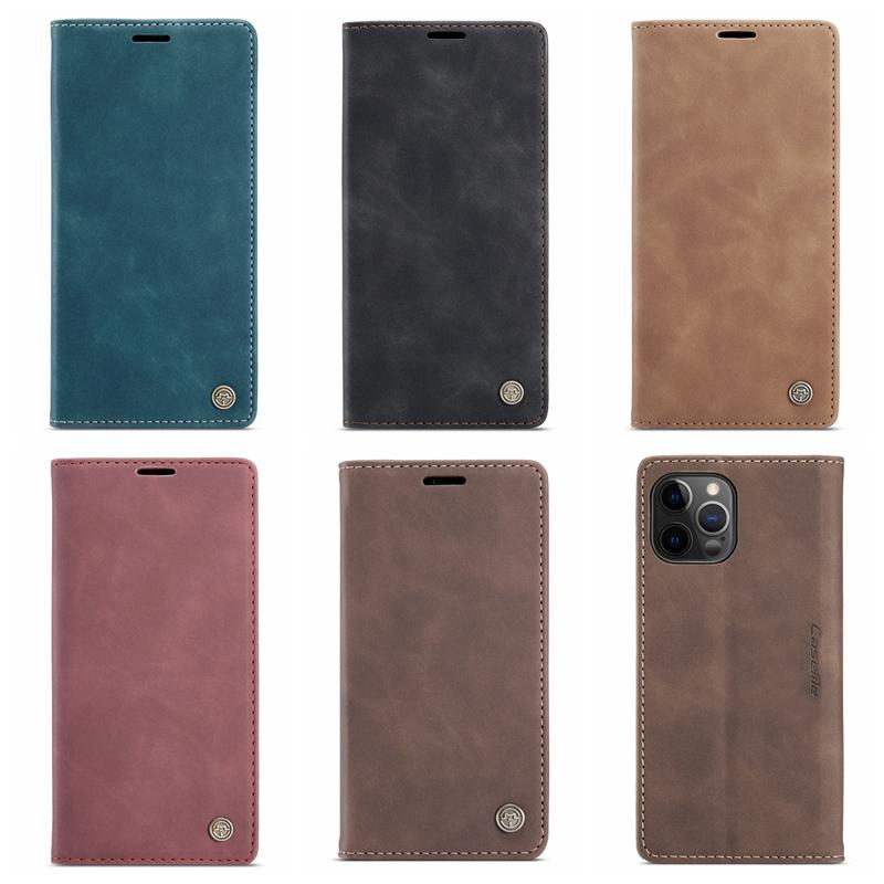 아이폰 12 Pro 2020 5.4 6.1 6.7 삼성 노트 20 Ultra Suck 마그네틱 클로저 빈티지 홀더 스탠드 플립 커버
