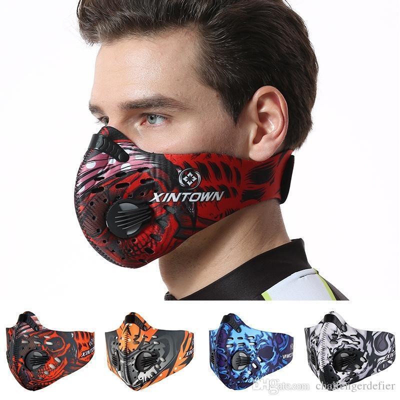 Treinar bicicleta do exterior Máscara de poeira Masque Nylon Anti PM2.5 Correndo Sportswear Maske Bisiklet1