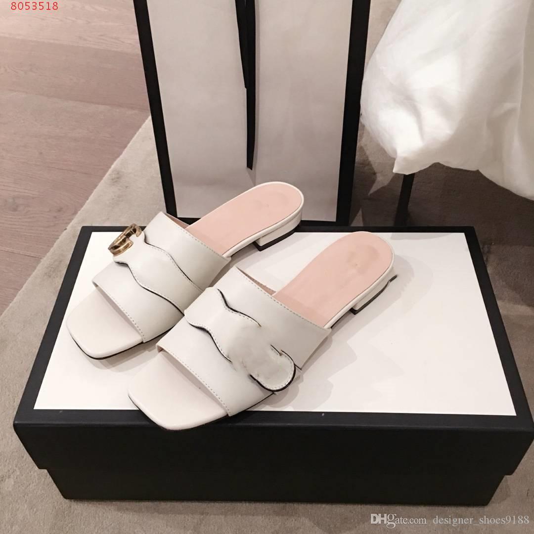 Париж Роскошная Довольно хорошо летом сандалии пляжа Slide Тапочки женские Вьетнамки слайд женщин с двойной G