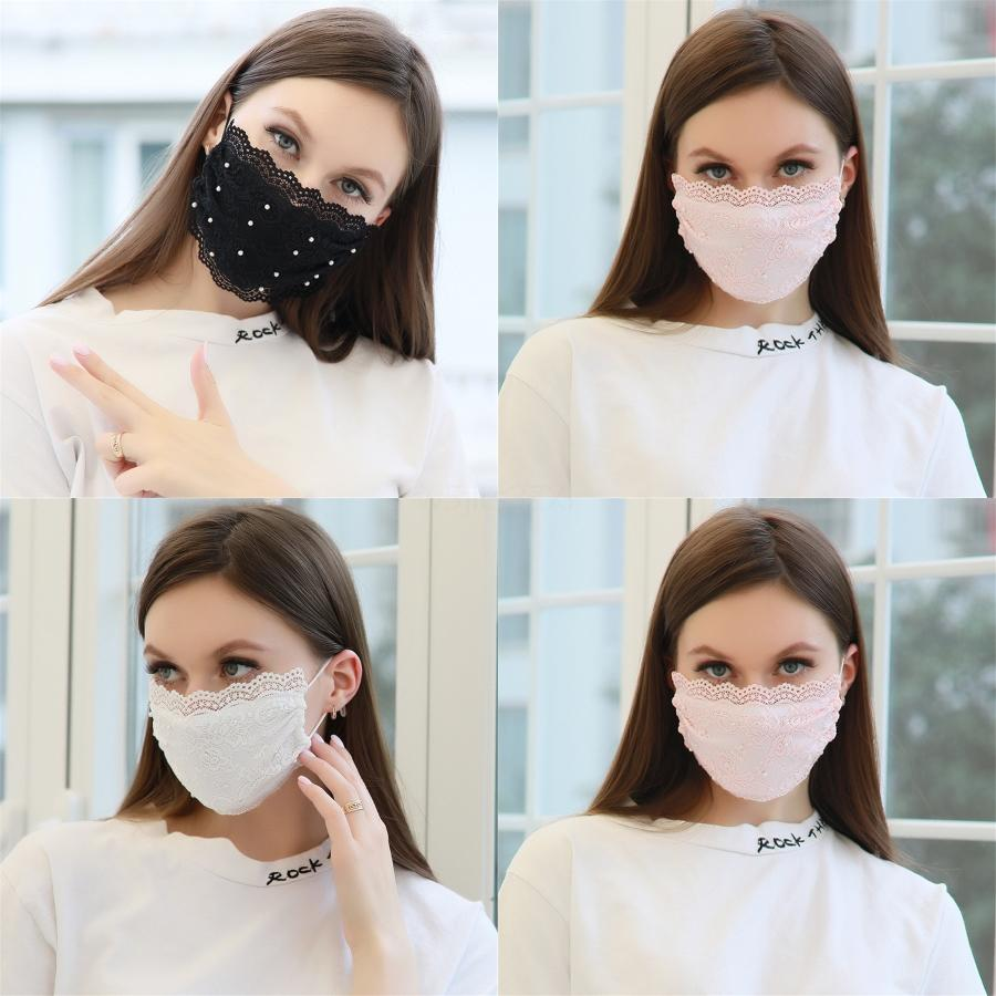 PM2,5 Masque coton imprimé Wit Breatable Valve Earloop Mout Er Adjutsable PM2,5 floraux antipoussière solides Masques Dener visage EEA1584 # 576 # 110