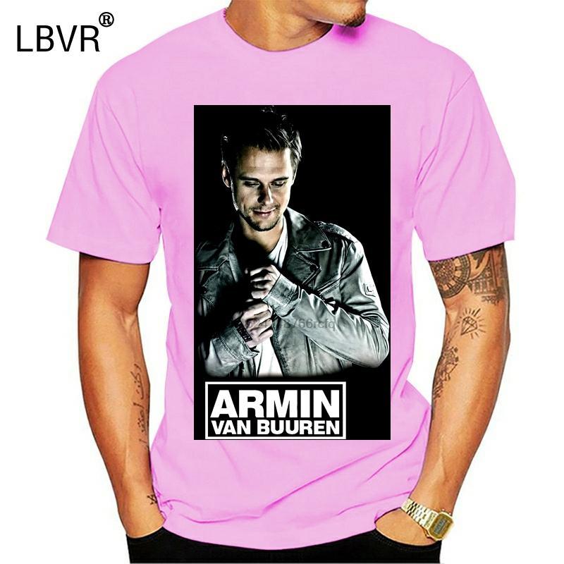 Armin Van Buuren Umarmungs Dj Logo-Schwarz-VT-Shirt T-Stück S-3XL Kühle Printed T Tops