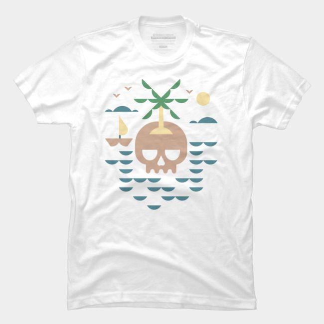 Kafatası Adası 2020 Moda Erkekler Tişörtlü Yaz Kişilik