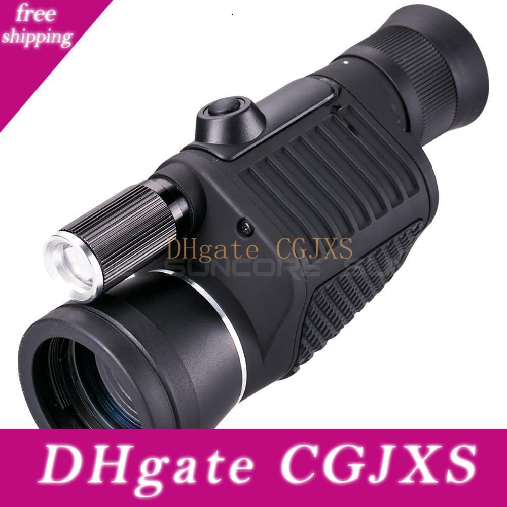 Professionale monoculare Zoom Vision 8x40 messa a fuoco del telescopio ad alta -Potenza visione notturna di HD Monocle caccia di Spyglass con la torcia elettrica T191022