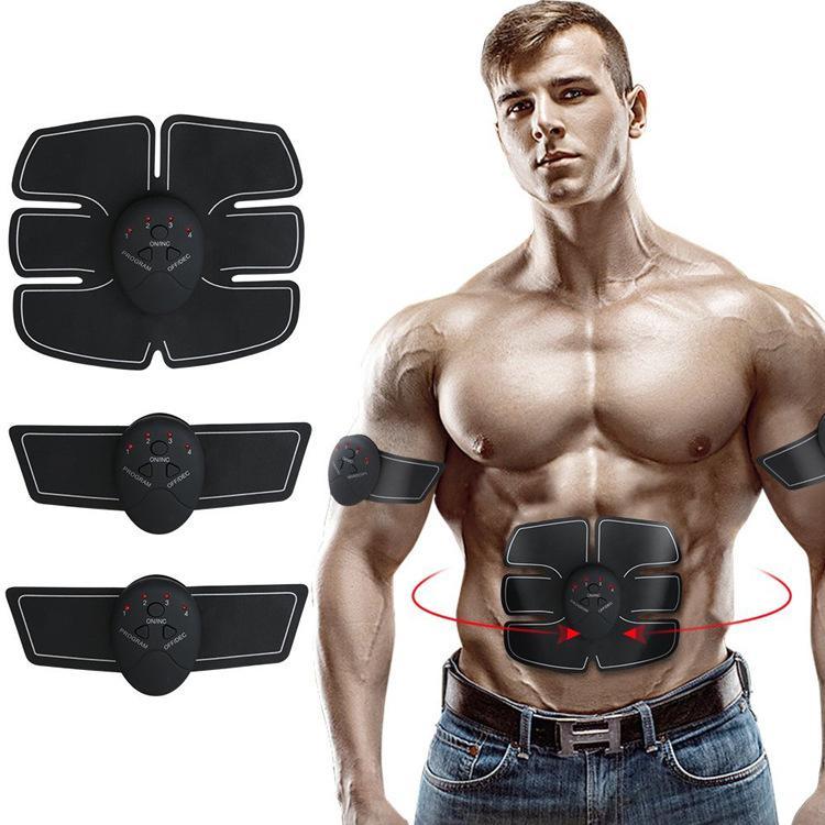 Muscle EMS sem fio dispositivo Estimulador inteligente aptidão Treinamento Abdominal Elétrica Slimming Belt Adesivos corpo emagrecimento Cintos 5 pcs DHL