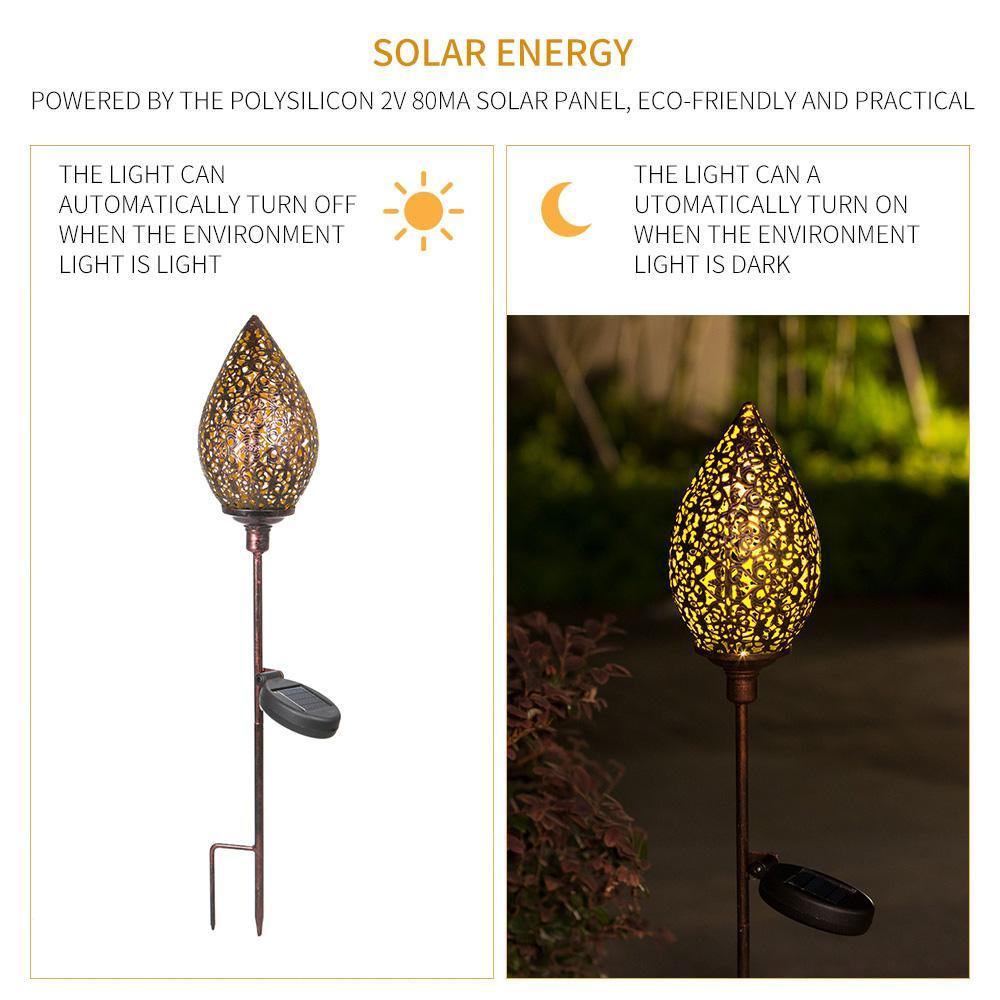 LED Solar Chama Lamp cintilação Solar Paisagem Lawn Lâmpada impermeável ao ar livre pátio do jardim de Olive Forma Caminho de Iluminação