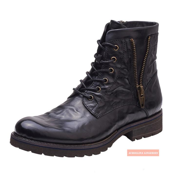 Scarpe Cowskin mano Stivaletti uomo Fashion Shoes Classic selvaggio unico alla moda Boots fatto a mano di fascia alta moda