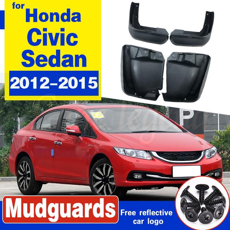 Pour Honda Civic Sedan 2012-2015 bavettes Pare-boue avant boue aileron arrière Garde-boue Fender 2013 2014 Set Moulé boue Rabats