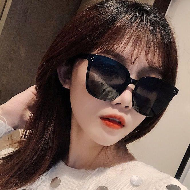 Nectar Collector White Korean Style Sunglasses Womens Net Red Street Fashion 2020 New Style Square round Face UV Protection Black Sunglasses