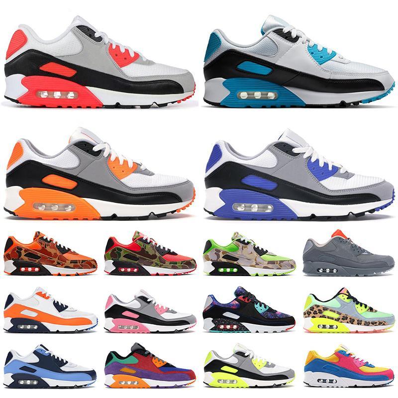 Compre Barato Nike Air Max 90 Zapatos Para Correr Para Hombre, Entrenadores  Para Mujer Hyper Grape UNC Reverse Duck Camo Supernova Total Orange, ...