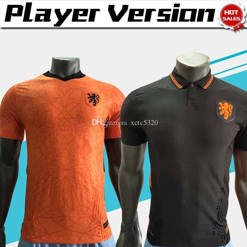 2020 player version Netherlands soccer jersey #4 VIRGIL #10 MEMPHIS 20/21 Men Holland national team Football uniforms