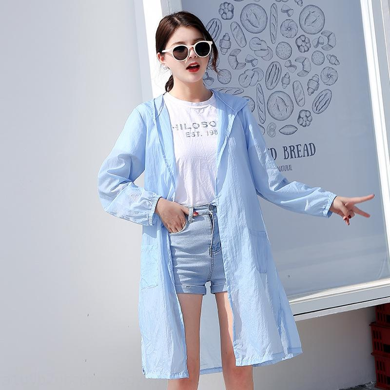 KP0Nb Sunscreen for Embroidered coat women mid-length 2019 summer New loose fairy travel back women coat for embroidered