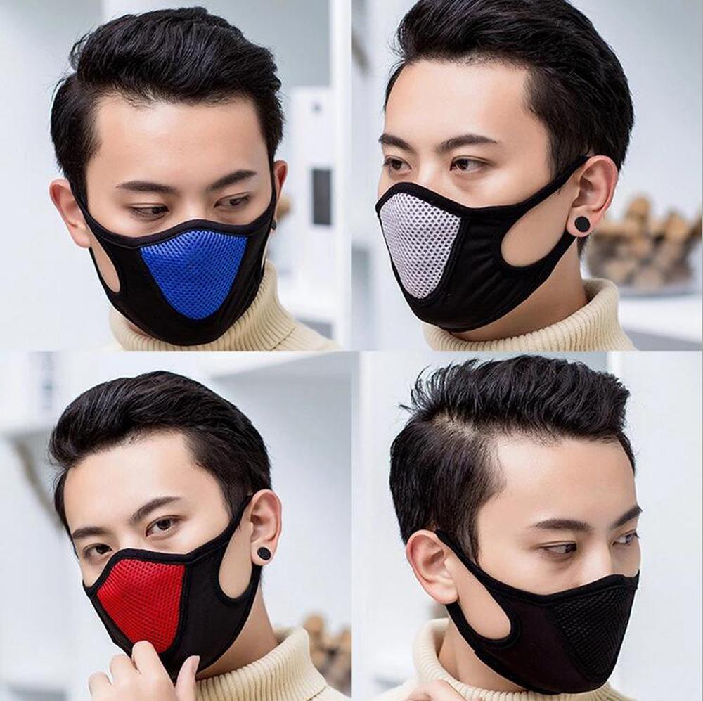 Masque de protection Visage Sport adulte Couverture antipoussière Masques réutilisables Masques pleine anti-poussière élastique respirateurs populaire coton