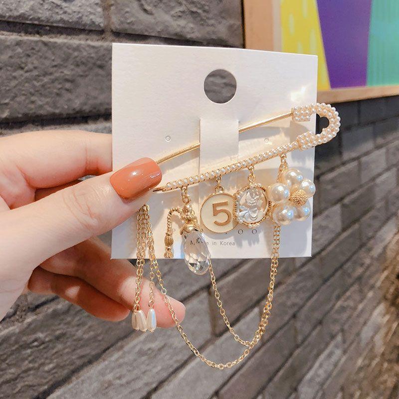 Классический дизайн PIN-код броши кристалл лук цветок жемчужина камелия 5 броши булавки ювелирные изделия винтажная пряжка штифта