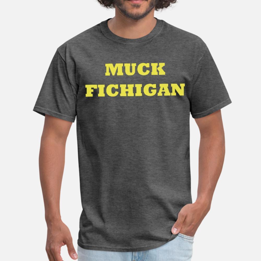 Мук Fichigan тенниска мужчин дизайнер хлопок размер S-3XL Trend смазливая Юмор лето Kawaii рубашка