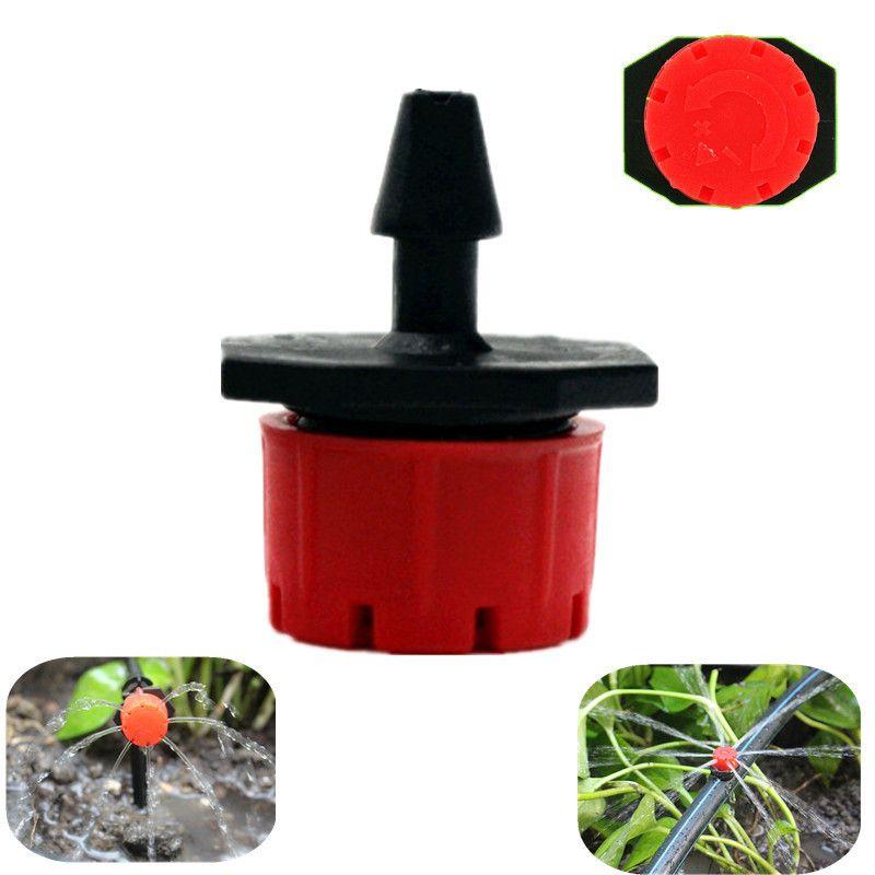 500PCS 8Holes regolabile rosso Flusso Dripper micro ugelli Dripper emettitore irrigazione a goccia di spruzzatore di ugelli Garden Watering Raccordi Y200106