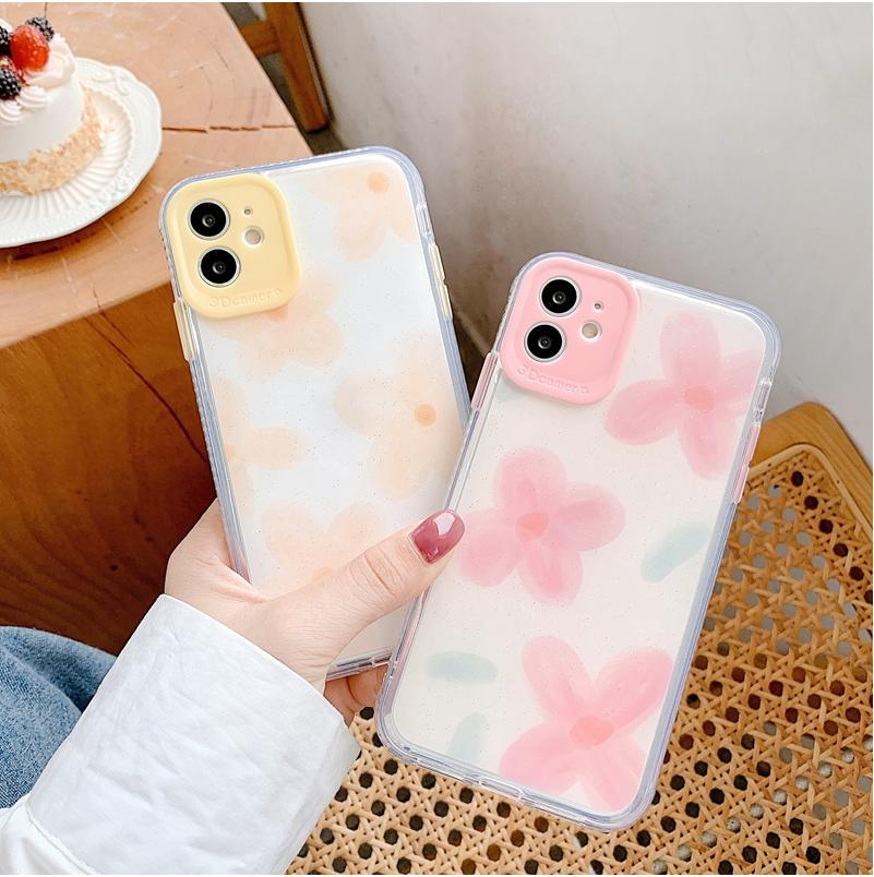 أزياء فاخرة زهرة القضية للحصول على هاتف اي فون 11 برو ماكس XS X XR 7 8 زائد SE 2020 حالات صدمات الغلاف