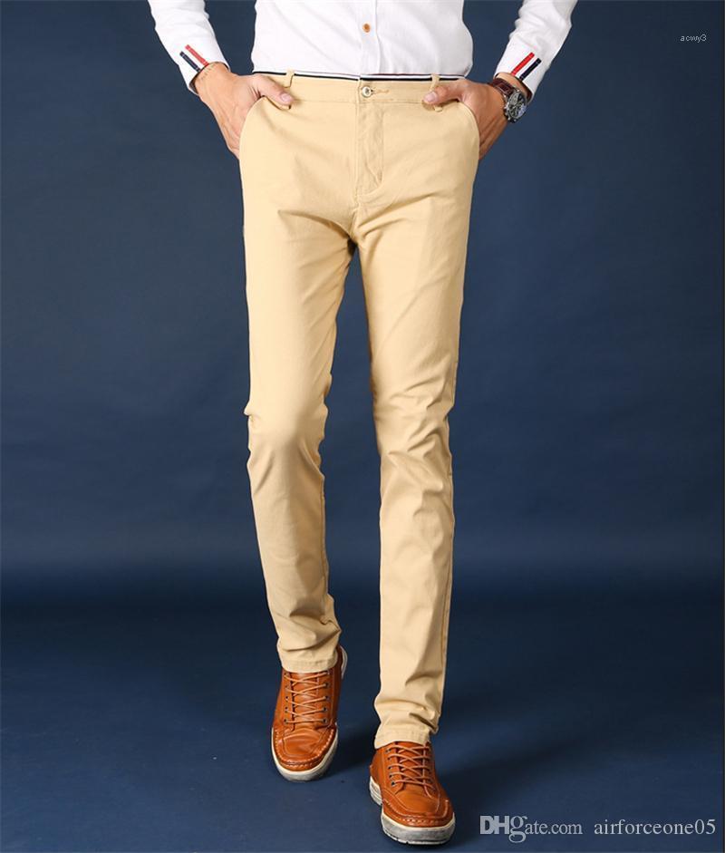Com bolso da calça reta Designer Mid cintura Casual Calças Lápis Verão Mens Roupa Moda Zipper Fly