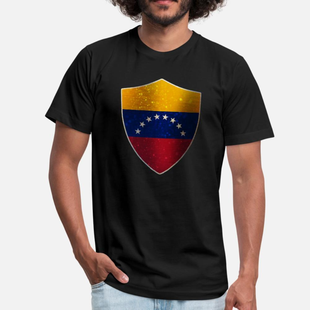 Escudo Bandeira Venezuela Camiseta presente Men Cotton gola Homme presente 100% confortável Primavera Original