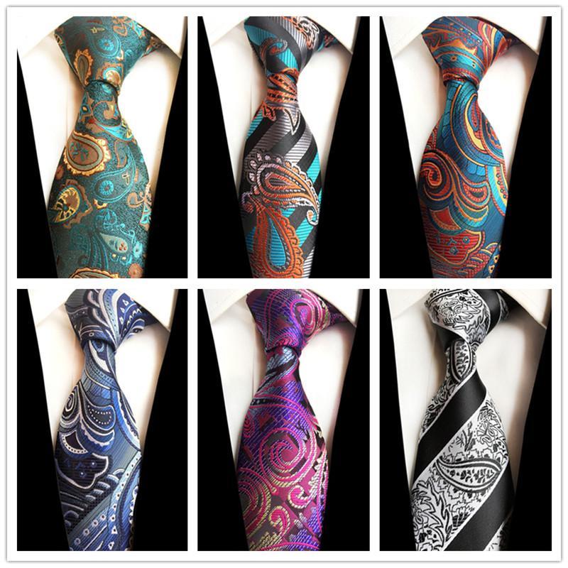 New 8cm Plaid Tie Floral Hommes soie cravate jacquard tissé Cravate pour adultes Classic Party affaires Neckwear cadeau de mariage