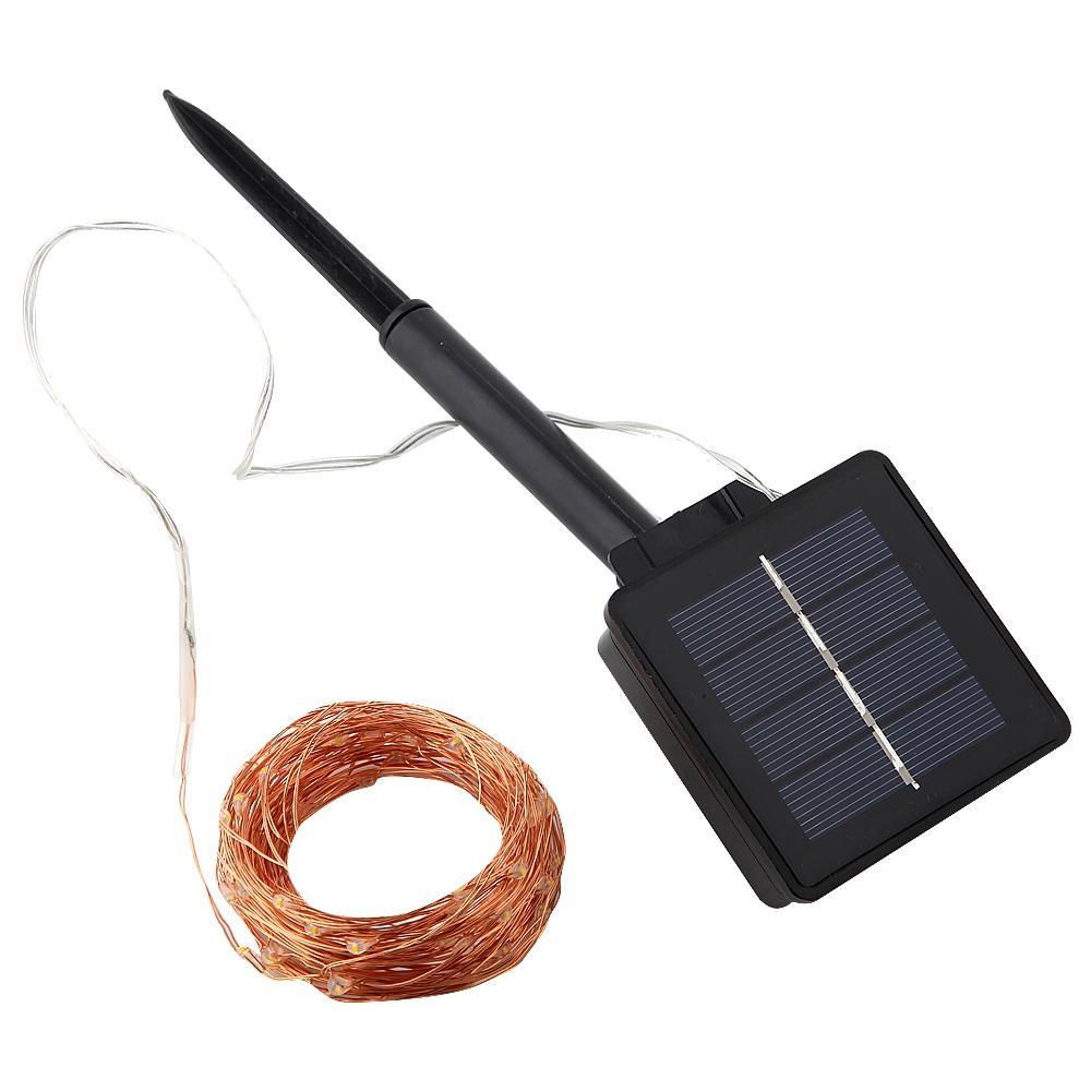 Solarschnur-feenhafte Licht-12m 100LED / 22m 200 LED-wasserdicht im Freien Garland Sonnenenergie-Lampe Weihnachten für Garten-Dekoration