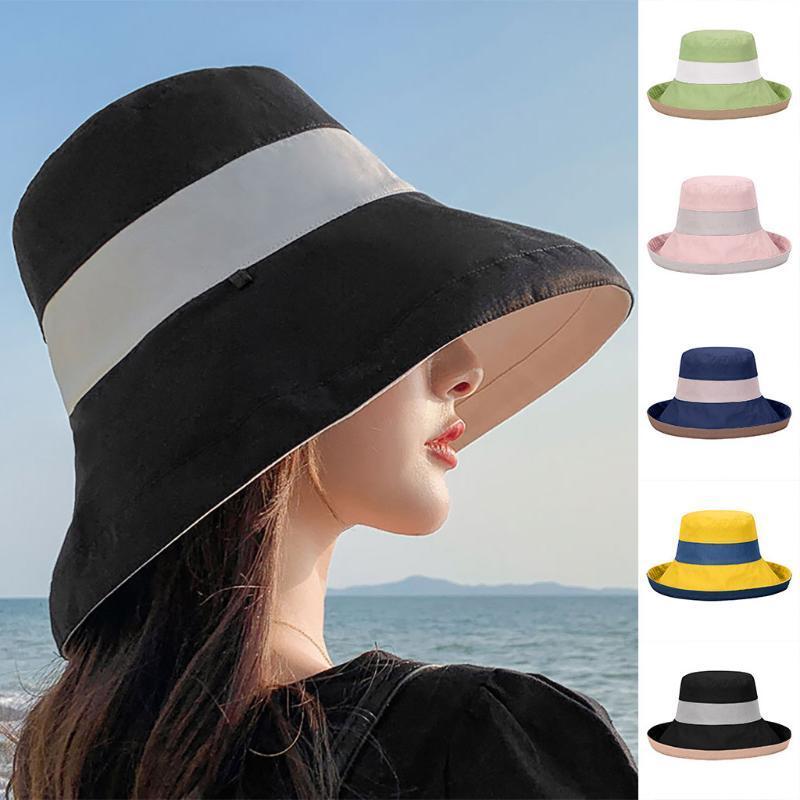 2020 Летняя Hoilday Женщины УФ-защита Солнцезащитный козырек Hat Cap Ковш Wide Floppy Hat For Складная Открытый пляж кемпинга ВС Hat # g3
