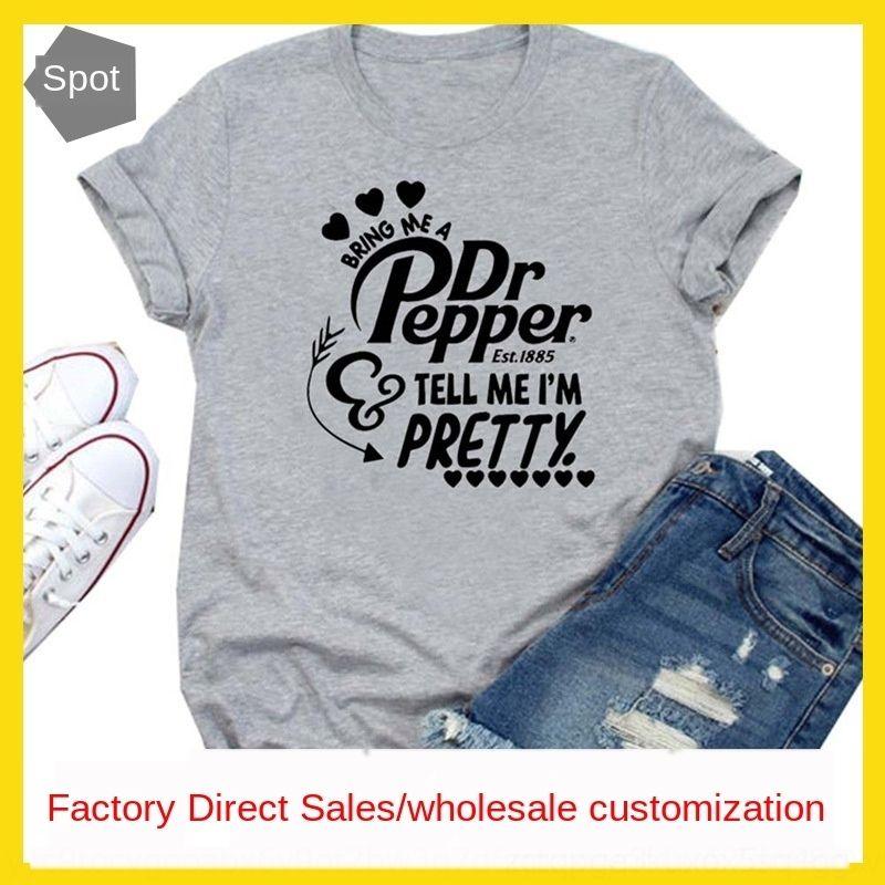 hfQi6 0uE3e lettera di usura Portare una T-shirt pdrepper shirtshirt femminile Portare abbigliamento femminile mi shirtshort a maniche una lettera pdrepper me shirtshirt
