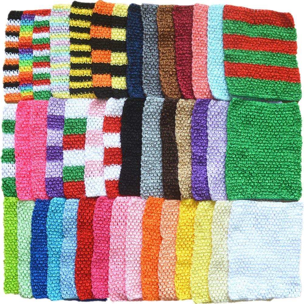 43 colores 9inch bebés elástico del abrigo del pecho infante venda del ganchillo Rayón Tutu Tubo chica remata Hairband Z1555