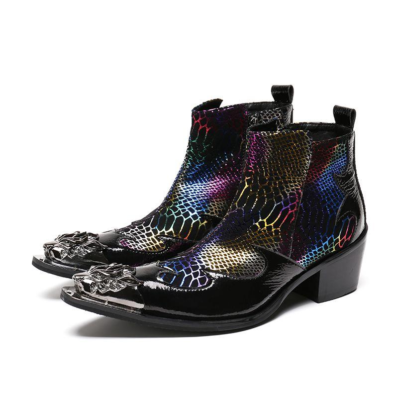 homem apontou Toe metal Dica Lace Spikes mocassim tamanho Sapatos Evenig partido sapatos de casamento 37-46