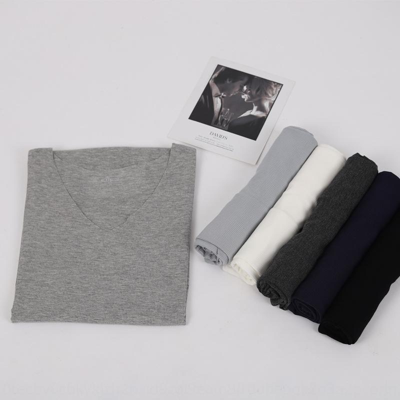 Threaded modal Ice Silk nahtlose V-Ausschnitt breite Schulter der Männer und Weste T-Shirt Weste Größe lose schnelltrockn grundiert ärmellos T-Shirt summ