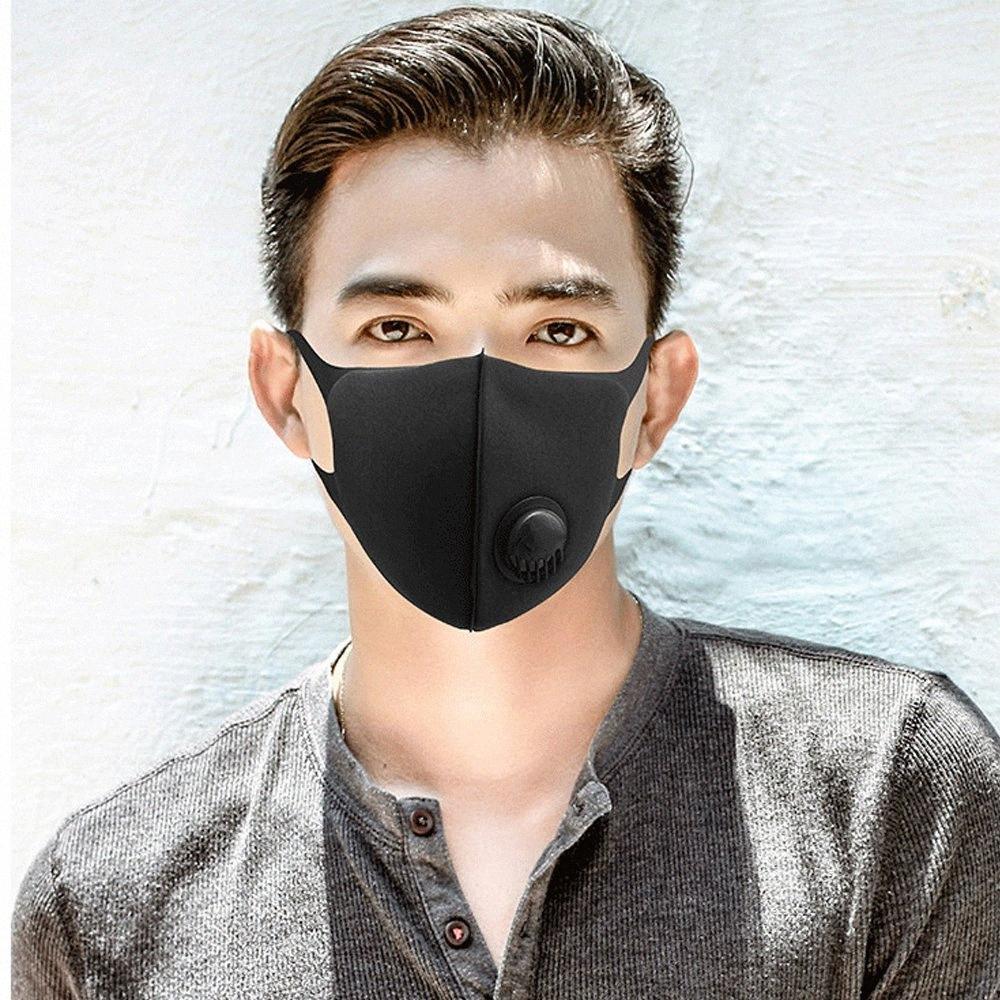 Masques Visage Expédition gratuite Anti-poussière, fumée Réutilisé, Extérieur, intérieur réglable PM2,5 Protection réutilisable Filtres Masque bouche pour les femmes XZUC #