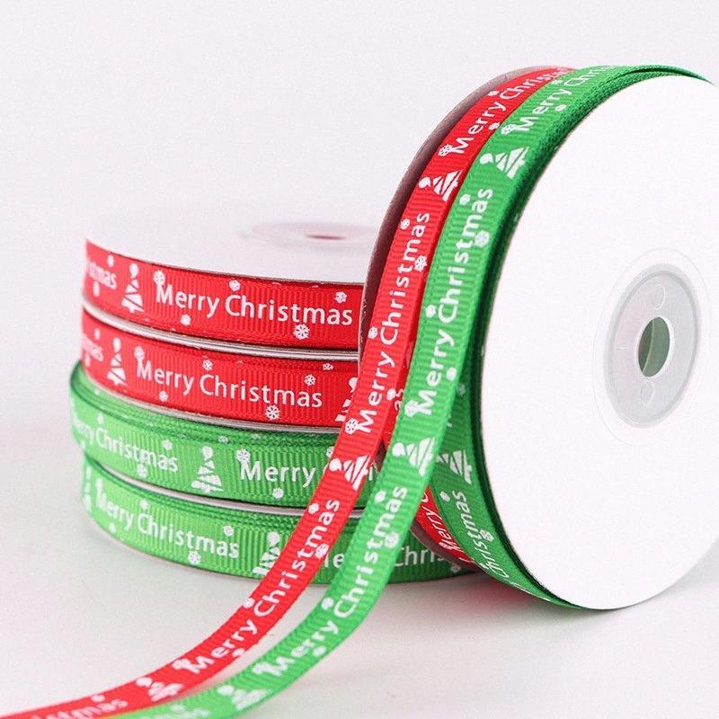 25 Yard 1cm Noel Hediyesi Kutu Ambalaj Bant Noel Süsleri Home For Hediye Şerit Misafir Yeni Year.Q Noel Ornamen nQOK # için Yana