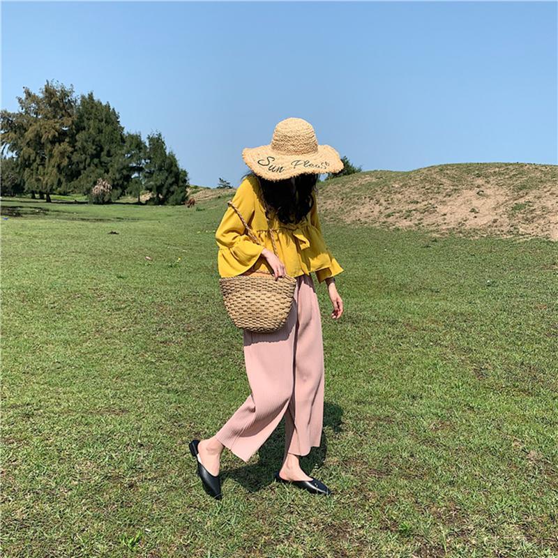 Moda Pointed Toe Mulas Verão Mulheres Chinelos Doce Cor Flats Deslizamento-no feriado das senhoras Sandálias Slides de borracha Calçados Femininos