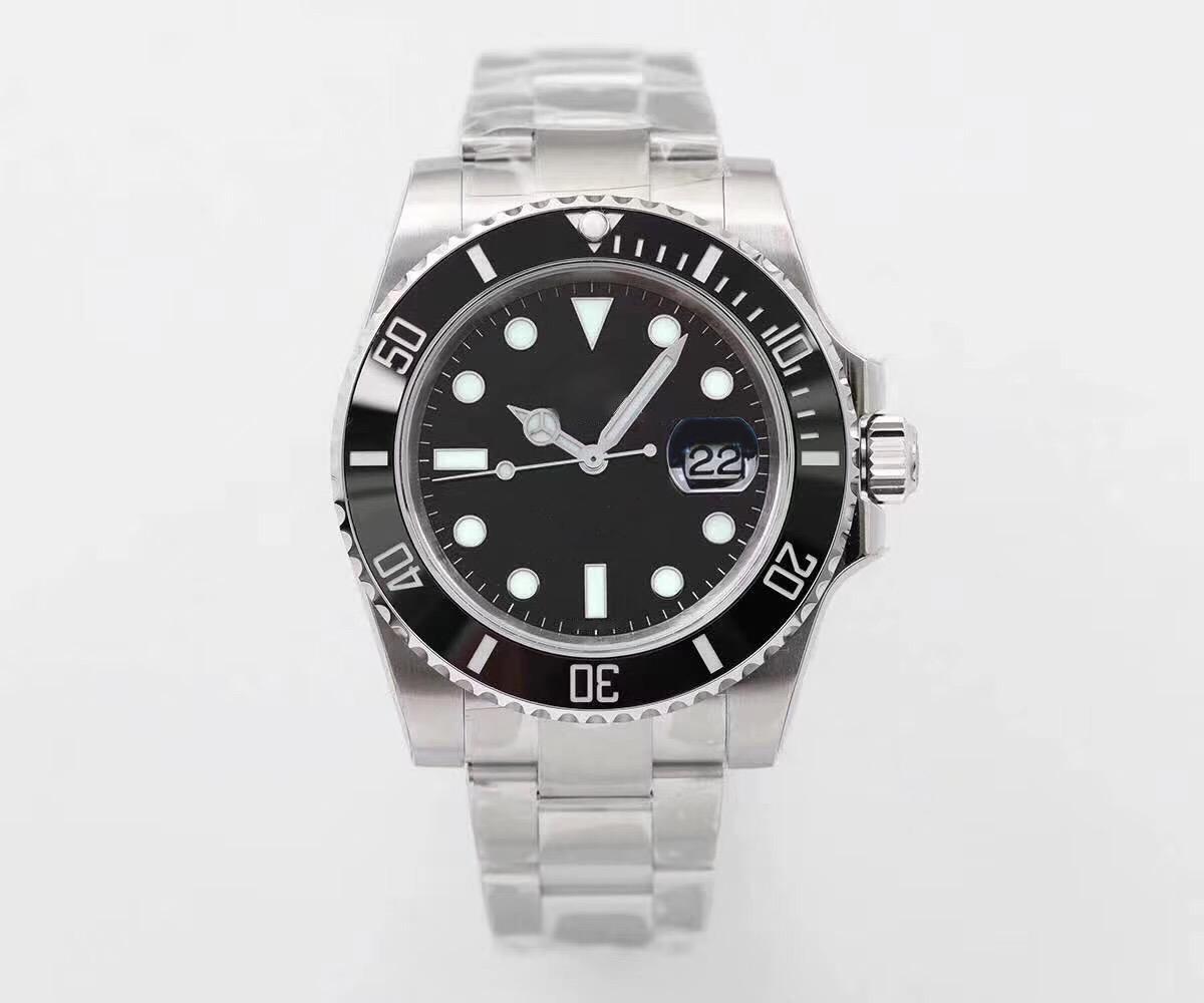 남자 시계 높은 품질 자동 기계식 시계 116610LN 2813 운동 스카이 GMT 세라믹 발광 30m 방수 시계