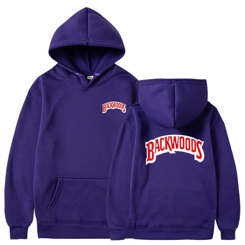 Backwoods Hoodie Kazak Erkek Katı Renk Blend Pamuk Hoodie Hip Hop Streetwear 2020 Asya Kod Ceket Uzun Kol Hoodie