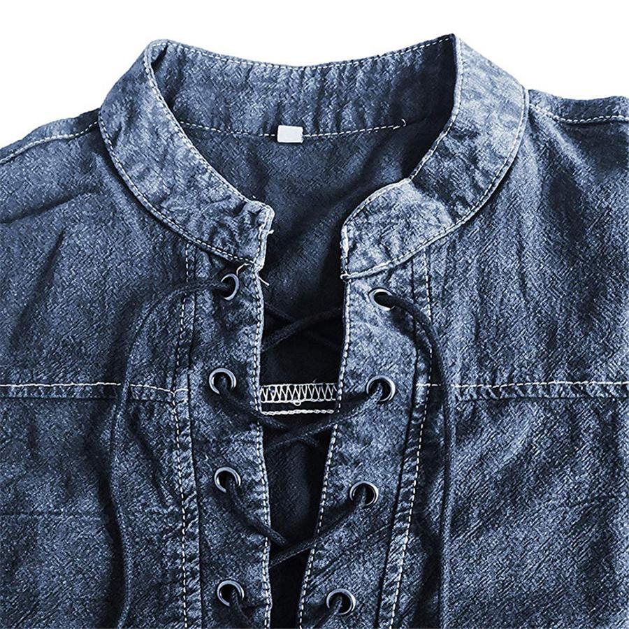 Diseñador del resorte Botten largas de la manga Los hombres ocasionales de la manera ropa para hombre de las camisetas # 784 V