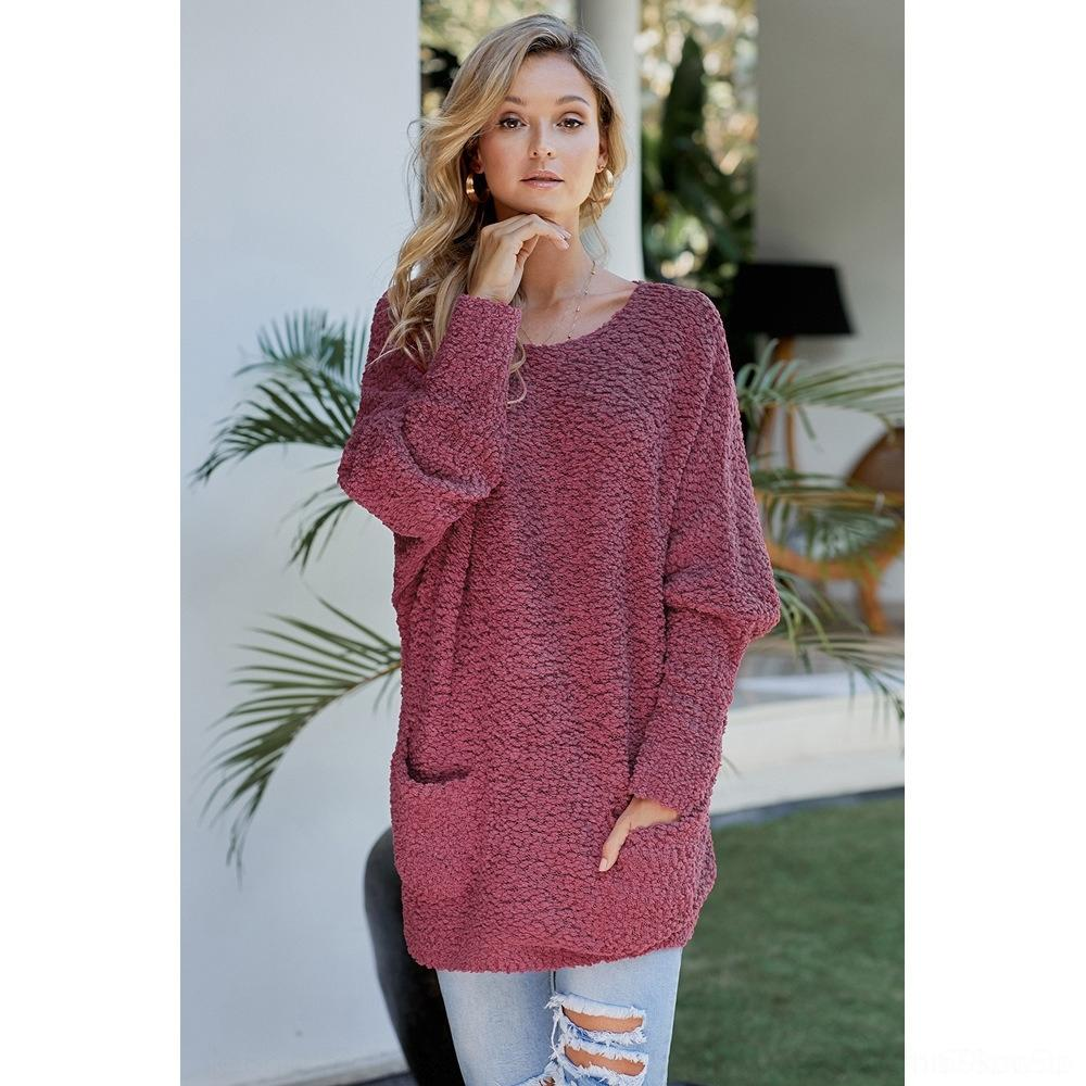 пуловеры и зима новая женская трикотажная средней длина цвет шея длинный рукав твердых Осень свитера пуловер свитер 270015 v5cUq