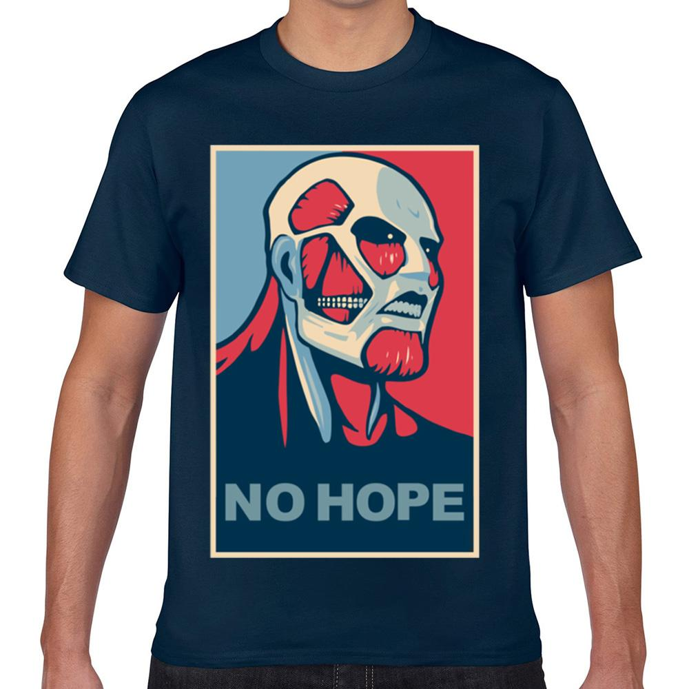 Tops T shirt da uomo No Hope No Shingeki Kyojin O-Collo Vintage corto maschile Tshirt