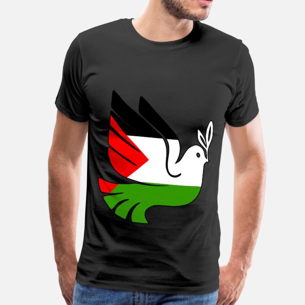 Fermare la guerra la pace per la Palestina uomini della maglietta Progettazione cotone formato S-3XL standard Fitness Magliette standard estate casuale